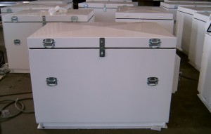 This is an image of a battery enclosure manufactured by Boxline Industries